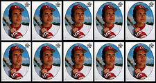 (10) JOHNNY BENCH DIE CUT STICKERS-1983 TOPPS # 7-HOF CINCINNATI REDS CATCHER