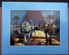 "TOY STORY Buzz lightyear Woody Vintage Lithograph 1996 new 14"" x 11"" official"