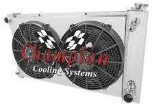 "4 Row JR Radiator 28"" Core W/ 2 14"" Fans and Shroud for 1967 - 1972 Chevy Blazer"