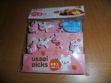 Torune msa mamas assist Usagi diecut bunny Rabbit set  8 lunch food picks bento