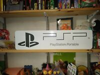 "PSP Display, PlayStation Portable Aluminum Sign, 6"" x 24""."
