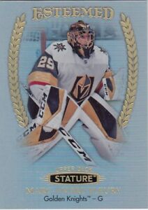 MARC-ANDRE FLEURY NO:E-3 ESTEEMED in UPPER DECK STATURE HOCKEY 2019-20    a