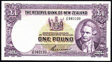 New Zealand NZ  Wilson ND 1955-56  Pound  P. 159b Prefix J/9 gFine Note RARE