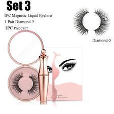 Waterproof Magnetic Liquid Eyeliner False Eyelashes Set Eye Lashes Tweezer Kit
