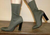 bottines T40 chaussettes zippées talons kaki talons haut 11cm