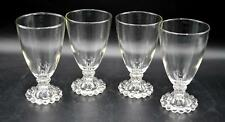 "Set of 4 Vintage Anchor Hocking Clear Boopie 5 1/2"" Water/Wine Glasses"