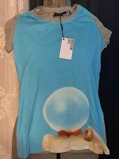 NWT Love Moschino Bubble Blue T-Shirt Women's Sz US 8