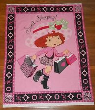 Strawberry Shortcake Sweet Shopping Cheater Baby Quilt Spectrix OOP Fabric Panel