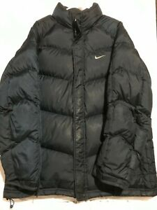 Vintage 90's Nike Down Navy Blue Puffer Coat. Mens XL