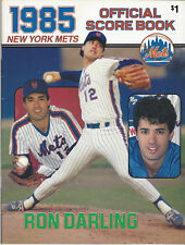 1985 New York Mets Official Scorebook vs Expos Ron Darling Cover UNSCORED