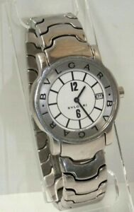 Bvlgari Solotempo Stainless Steel Men's Watch Sapphire Crystal, Battery