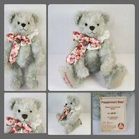 Vtg Hermann Peppermint Bear Mohair Teddy Bear Growler Limited Edition 217 of 500