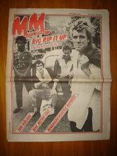 MELODY MAKER 1981 SEP 5 RIP RIG PANIC GO TOM VERLAINE
