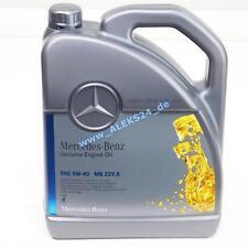 5L Orig. Mercedes Synthetic Motoröl �–lservice 5W40 MB 229.5 A00098983701 5 Liter