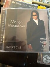 MARION MEADOWS Player's Club RARE  HYBRID 5.1 SURROUND Multichannel SACD New