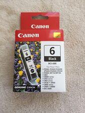 Canon BCI-6BK GENUINE BLACK INK CARTRIDGE, NEW IN BOX