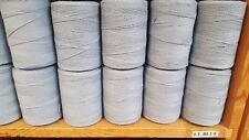 Rug Warp- Lot of 10 (1/2 lb ea.)- Cotton/Polyester Blend- Color Light Blue