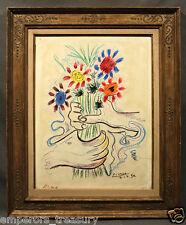 After Pablo Picasso (SPANISH, 1881-1973) Color Lithograph Fleurs aux Mains