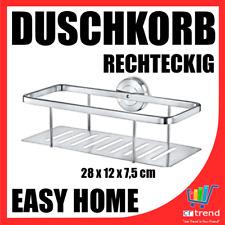 Duschkorb Rechteckig mit Wandhalterung für Bad Dusche Rostfrei Edelstahl WOW NEU