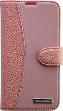 Commander Book Case Leder Handy Tasche Apple iPhone 6 & 6S Pink Rosa