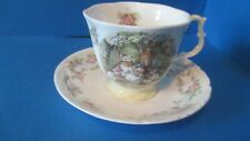BRAMBLY HEDGE ROYAL DOULTON POPPY'S BABIES  FULL SIZE  TEA CUP & SAUCER