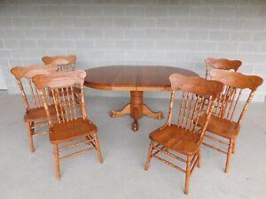 Oak Antique Dining Sets 1950 Now For Sale Ebay