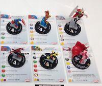 Heroclix AvX: Avengers vs X-Men set COMPLETE 6-figure Avengers Starter w/cards!