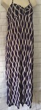 Monsoon Accessorize Maxi Dress 12-14 Medium Purple blue Summer Beach holiday