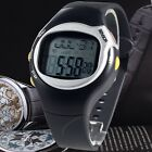 New Sport Pulse Heart Rate Monitor Calories Counter Fitness Wrist Watch Black