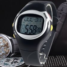 Sports Fitness Wrist Watch Waterproof Pulse Heart Rate Monitor Calories Counter