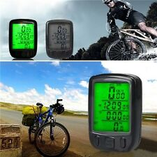 Waterproof LCD Display Cycling Bicycle Computer Speedometer with Green Backligh