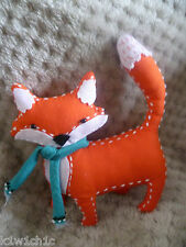 JOHN LEWIS Fox Pin Cushion - Sewing - Cute Orange Fox wearing a Scarf - RRP £9