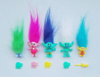 "5pcs/lot Random vintage trolls Lucky Doll Mini Figures Toy 2"" cake toppers"
