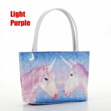 New Women's Unicorn Handbag PU Leather Lady Shoulder Tote Cosmetics Storage Bags