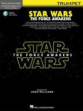 Play-Along Star Wars The Force Awakens Trumpet Movie MUSIC BOOK & ONLINE AUDIO