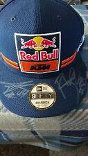 Red Bull Ktm Team Cap main signé par Pol et Bradley neuf non utilisé