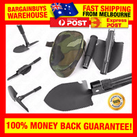 Portable Folding Survival Shovel Spade Pickaxe Saw Bottle Opener Compass Tool