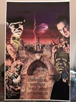 Monsters universal studios dracula Frankenstein wolfman invisible man poster