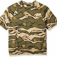 Sean John Mens Embroidered Camo Short Sleeve Sweatshirt Size Small NWT $69
