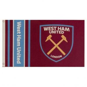 West Ham United FC Official Crested Large Flag (5ft x 3ft) Present Gift Hammers