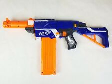 Nerf N-Strike Retaliator Blue Dart Gun Stock Barrel Grip Handle Ammo Clip!