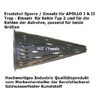 3 x Kaufen 4.Gratis! Sperre Einsatz Ersatzteil Aalreuse APOLLO + Aalrohr Aalkorb