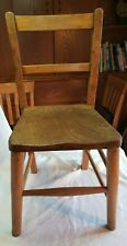 Vintage Solid Wood Light Oak Childs School Chair