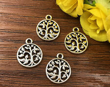 8pcs Tree of Life Tibetan Silver Bead charms Pendants DIY jewelry 18x15mm J138