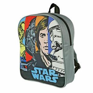 STAR WARS Backpack Junior Kids Darth Vader Trooper Rucksack School Bag