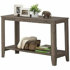 """Monarch Specialties I 7915S Accent Table 44""""L Dark Taupe Hall Console"""