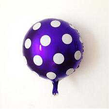 "18"" Round Big Polka Dot Foil Balloons Wedding Birthday Party Decoration 11 Color"