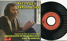 GEORGES MOUSTAKI 45 TOURS FRANCE UNE BESSURE
