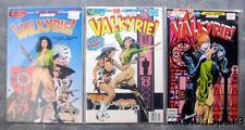"""ECLIPSE COMICS COMPLETE 3 ISSUE MINI-SERIES """"VALKYRIE!"""" 1987 CHUCK DIXON ART VF+"""