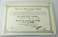 LOT OF 10  NUMBERED DECEMBER 1903 STRIP BONDS /STOCKS! M. KAPITAAL